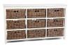 SANS KUBU GREY  STORAGE  (KGS709) WITH 9 BASKETS - KUBU GREY / WHITE
