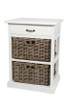 FUEGO STORAGE CHEST  (DRT782) WITH 2 BASKETS & 1 DRAWER - KUBU GREY / WHITE