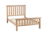 DOUBLE DOVIA SOLID TIMBER  BED - (LO-46) - WASHED OAK