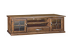 JAMAICA LOW TV UNIT WITH  2 DOORS + ONE  DRAWER -  (MODEL:VJM‐006) - 640(H) x 1660(W) - BLACK WOOD