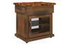 JAMAICA KITCHEN BENCH WITH 2 DRAWERS - 800(W) x 520(D) - BLACKWOOD