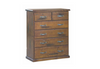 JAMAICA   QUEEN 4  PIECE TALLBOY BEDROOM SUITE (VJM‐001) -  BLACKWOOD