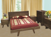 SUSAN  QUEEN 4  PIECE (TALLBOY)  BEDROOM SUITE  - ASSORTED COLOURS AVAILABLE