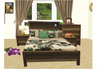 COASTAL  QUEEN 4  PIECE TALLBOY BEDROOM SUITE WITH BOOKEND BEDHEAD - COLOUR AS PICTURED