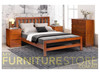 DOUBLE FLETCHER BED - GOLDEN BROWN