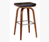 LUCCA BENTWOOD LEATHERETTE BAR STOOLS - SEAT:700(H) - (SET OF 2) - BLACK