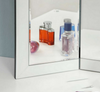 CANNES  TRI-FOLD VANITY MIRROR  WITH WHITE GLASS FRAME- AS PICTURED