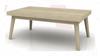 SUSSEX  HARDWOOD COFFEE  TABLE - 400(H) X 1200(W) X  700(D) - MULTI DISTRESSES GREY