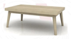SUSSEX  HARDWOOD COFFEE  TABLE - 400(H) X 1200(W) X  700(D) - MULTI DISTRESSES GREY