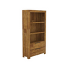 ALPINE  BOOKCASE WITH 2 DRAWERS & SHELVES -  1850(H) X 1000(W) - GOLDEN WALNUT