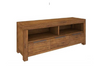 ALPINE SOLID TIMBER  ENTERTAINMENT 3 DRAWERS & 2 NICHES - 510(H) x 1750(W) - GOLDEN WALNUT