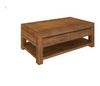 ALPINE  COFFEE TABLE WITH 2 DRAWERS & SHELF- 1300(W) X 700(D)  - GOLDEN WALNUT
