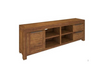 ALPINE SOLID TIMBER  ENTERTAINMENT UNIT 1 DOOR 2 DRAWERS - 600(H) x 2170(W) - GOLDEN WALNUT