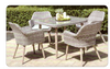 CURSO 5 PIECE 4 SEATER OUTDOOR DINING SET 1000(L) X 1000(W) TABLE - GREY