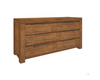 ALPINE  LOWBOY WITH 6  DRAWERS - 850(H) X 1400(W)  - GOLDEN WALNUT