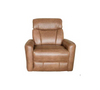 ALANZO ELECTRIC LEATHER  RECLINER  -TAN
