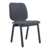 MISSIE  SET OF 2 FABRIC DINING CHAIRS SEAT 440.5(H) -  DARK  GREY