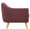SENKU  SINGLE SEATER FABRIC LOUNGE CHAIR - SEAT: 510(H) -ORCHID