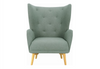 KIWAMI   FABRIC LOUNGE CHAIR - SEAT: 510(H) - MARBLE BLUE