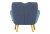 WAGON  FABRIC LOUNGE CHAIR - SEAT: 470(H) - MIDNIGHT BLUE