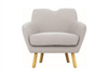 WAGON FABRIC LOUNGE CHAIR - SEAT: 470(H) - PALE SILVER
