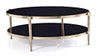 ALBAH COFFEE TABLE WITH SHELF -  NICKEL  / BLACK