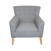 DARCY  ACCENT FIESTA FABRIC UPHOLSTERED  SOFA ARM CHAIR - SLATE