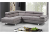 KINSLEY FABRIC SOFA WITH  LEFT CHAISE GREY