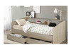 COZY DAY BED (SINGLE) WITH SHELVES &  2 DRAWERS - WHITE