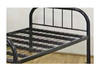 SINGLE COMMERCIAL METAL BED - BLACK