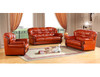 MERION TOP LEATHER 3 SEATER + 2 SEATER + 1 SEATER LOUNGE SUITE  -  AS PICTURED