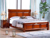 QUEEN JENNIE BED FRAME ONLY - BROWNISH BLACK