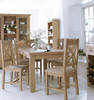 DOVIA (LO-17BET)  9 PIECE DINING SETTING WITH EXTENSION TABLE  1700 /2200(L) x 900(W) - WASHED OAK