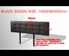 SWARZ (V63-768245)  QUEEN  DELUXE  LEATHERETTE HEADBOARD BEDHEAD - BLACK