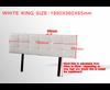 SWARZ (V63-768275) KING DELUXE LEATHERETTE HEADBOARD BEDHEAD - WHITE