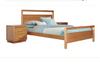 KING SUBURBAN 3 PIECE BEDSIDE BEDROOM SUITE - CLEAR LACQUER