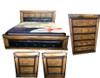 DAVINA  KING 4   PIECE TALLBOY   BEDROOM SUITE WITH UPHOLSTERED BEDHEAD AND FOOT - (MODEL:2.18.15.15.11.12.25.14)- COLOUR  AS PICTURED