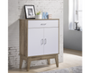 BARTEL (V80-NB-SC8311-OK) 2 DOOR 1 DRAWER  SHOE CABINET   -  OAK + WHITE