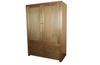 MORGAN 2 DOOR  WARDROBE WITHOUT  DRAWERS (NOT AS PICTURED) - 1800(H) X 1200(W) - STAINED