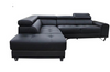 BELLAGIO  2 SEATER WITH RIGHT OR LEFT HAND FACING CHAISE   - BLACK