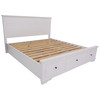 CHANELLE KING 3 PIECE BED PANEL BEDSIDE BEDROOM SUITE - (22-9-5-14-14-1) - WHITE