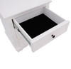 CHANELLE QUEEN 3 PIECE (BEDSIDE) BEDROOM SUITE (22-9-5-14-14-1) - WHITE