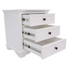 CHANELLE QUEEN 4 PIECE (TALLBOY) BEDROOM SUITE (22-9-5-14-14-1) - WHITE