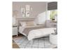 SINGLE SPENCER (TT-30-W) BED FRAME ONLY - BRIGHT WHITE  / LIGHT OAK (2 TONE)