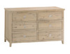 BRIGHTING 6 DRAWERS LOWBOY CHEST (FC-6DC) - 800(H) X 1400(W)- NATURAL