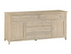 BRIGHTING 2 DOOR 5 DRAWER BUFFET (FC-LS) -  900(H) X 1900(W)  - NATURAL