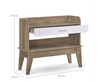 NEOLEEN HALLWAY TABLE (  V80-NB HW9357-OK) - WHITE /OAK