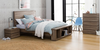 CUBIST QUEEN 4 PIECE TALLBOY  BEDROOM SUITE - (MODEL:LS-118) - MOCHA  OAK