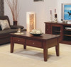 DINH TASSIE OAK COFFEE TABLE WITH 2 DRAWERS - 1200(W) X 700(D) - CHOICE OF COLOURS