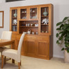 JOE TASSIE OAK (GROOVE UNDER TOP) BUFFET & HUTCH WITH 4 DRAWERS / 8 DOORS - 2035(H) x 1870(W) - ASSORTED COLOURS